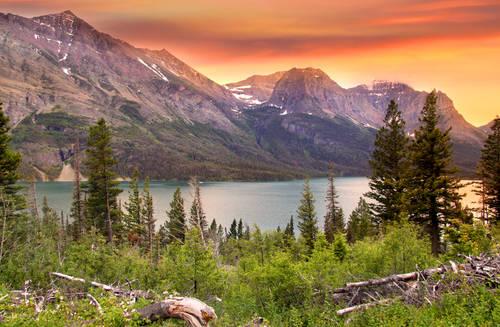 Panorama dello splendido parco nazionale del Montana.